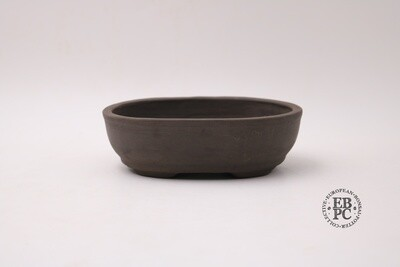 Zey Ceramics - 17.5cm; Unglazed; Dark Brown Clay; Basal Band; Recessed feet;