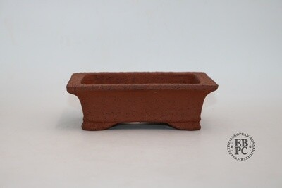 Zey Ceramics - 18cm; Unglazed; Rectangle; Groggy Red/Brown Clay; Lip to Rim; Recessed feet;
