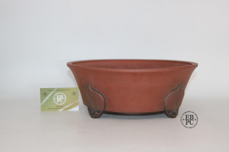 Stone Monkey Ceramics - 29cm; Unglazed; Round; Semi-cascade; Superb Feet; Kintsugi; Andrew Pearson