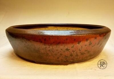 Miroslav Znamenáček - 30cm; Glazed; Round; Intricate Glaze; Violet, Reds, Black!
