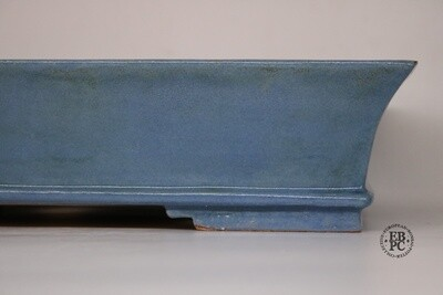 SOLD - M. J. G. Ceramica - 46cm; Rectangle; Stunning Kinyo Glaze; Light Blue; Maria Jose Gonzalez.