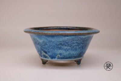 Fukurou Ceramics - Switzerland.  19.7cm; Round; Semi-Cascade; Detailed-like Feet; Exquisite'Namako'/Sea-cucumber Glaze; Intricate MIxing of Blues & Whites; Made by Patrik Lüthi.