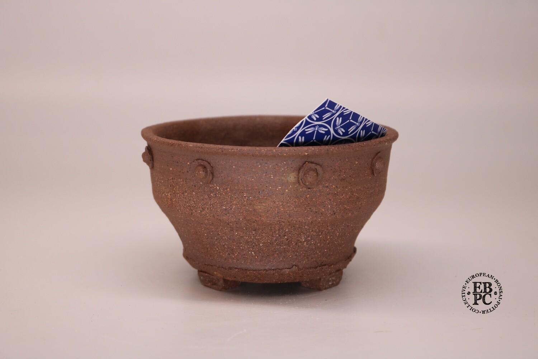 Dragonfly Bonsai Pots - 11.5cm; Unglazed; Superb New Design; Round; Accent / mame; Detailed Feet; Graham Simpson