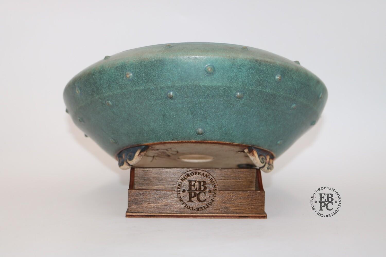 Stone Monkey Ceramics - 26.5cm; Round; White Clay;  Exquisite Glaze; Stud Detail; Cloud Feet; Andrew Pearson