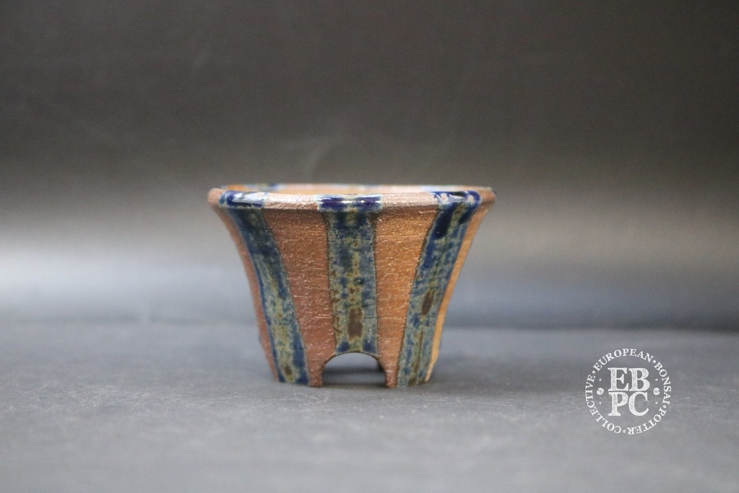 Gramming Pots -7.2cm; Glazed; Round; Mame; Accent; Blue; Reds; Browns; Tomas Gramming