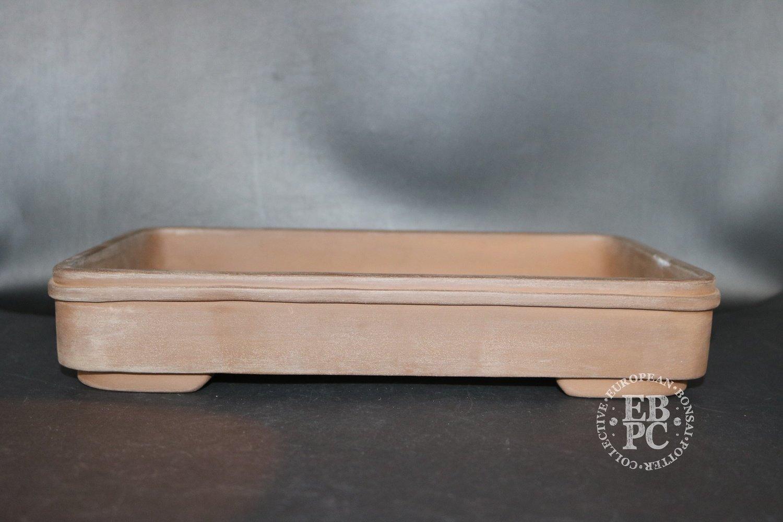SOLD - Mirt Pots - 31cm; Unglazed; Rectangle; Light Brown Clay;