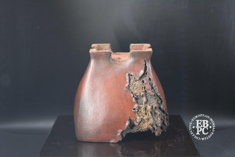 M. J. G. Ceramica - Commission piece; 13cm; Unglazed; Cascade; Shohin; Bug Bitten; Mushikui; Maria Gonzalez
