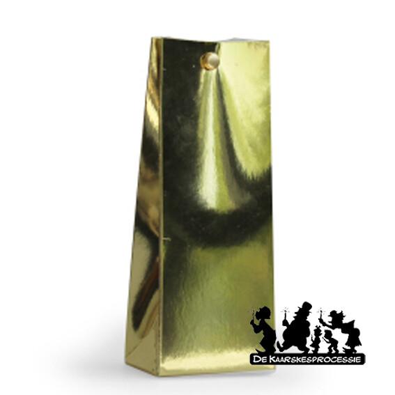 Glanzend goud hoog zakje
