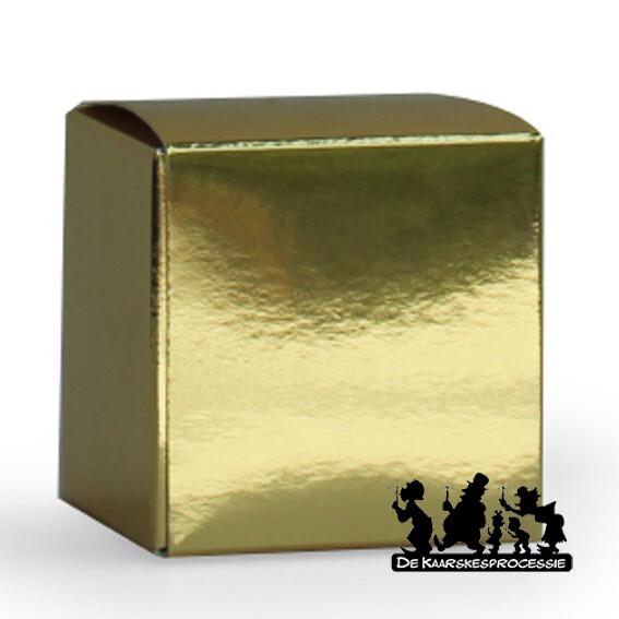 Glanzend goud kubus