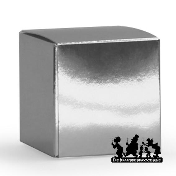 Glanzend zilver kubus