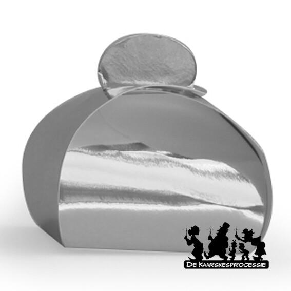 Glanzend zilver bonbon doosje
