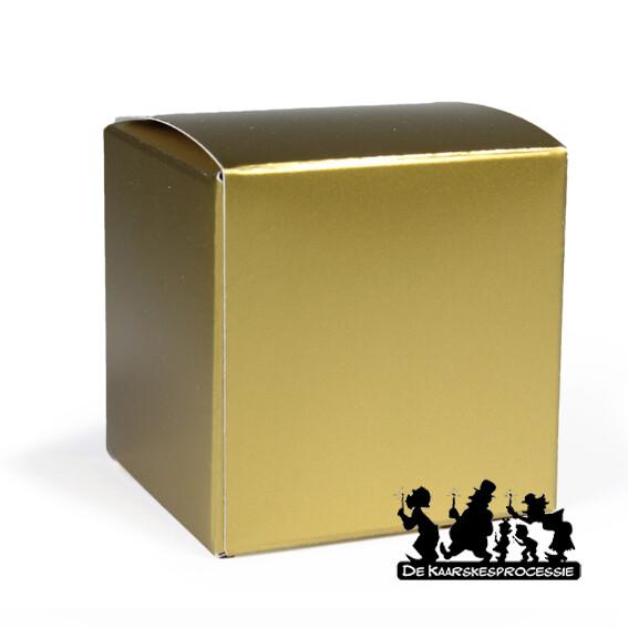 Mat goud kubus