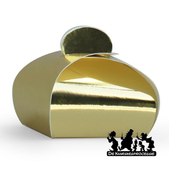 Glanzend goud bonbon doosje