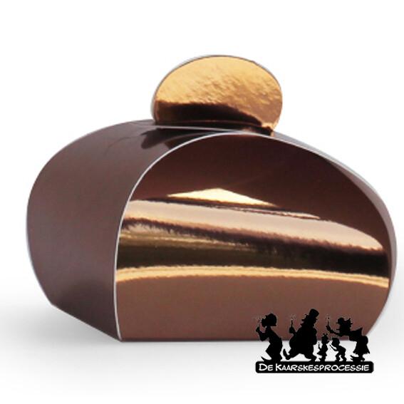 Glanzend koper bonbon doosje