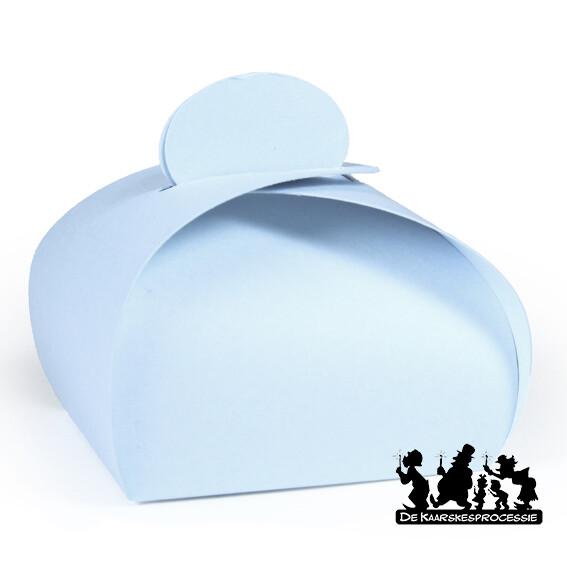 Zachtblauw bonbon doosje