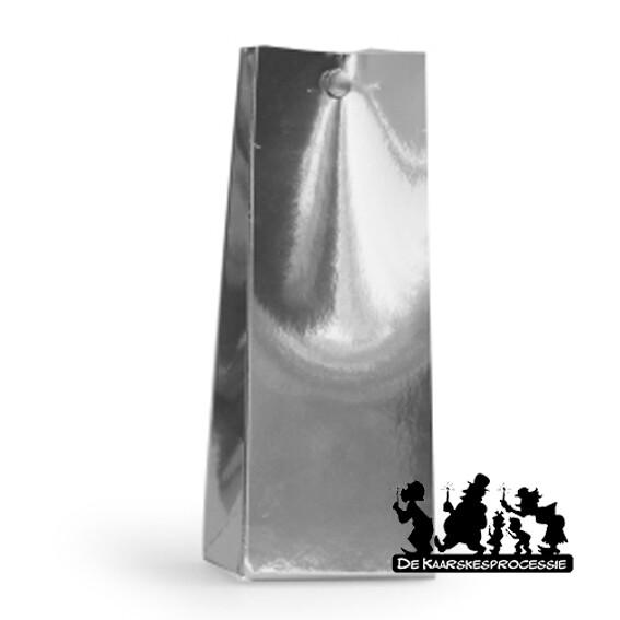 Glanzend zilver hoog zakje