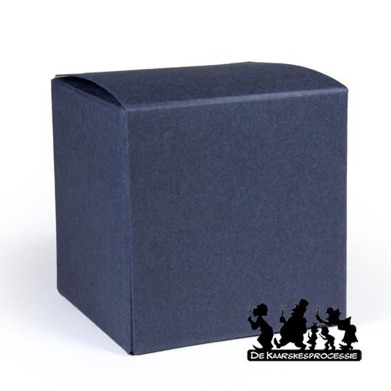 Nachtblauw kubus