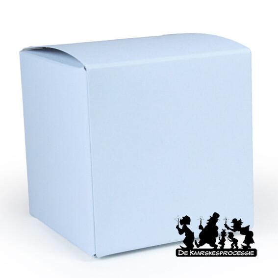 Zachtblauw kubus