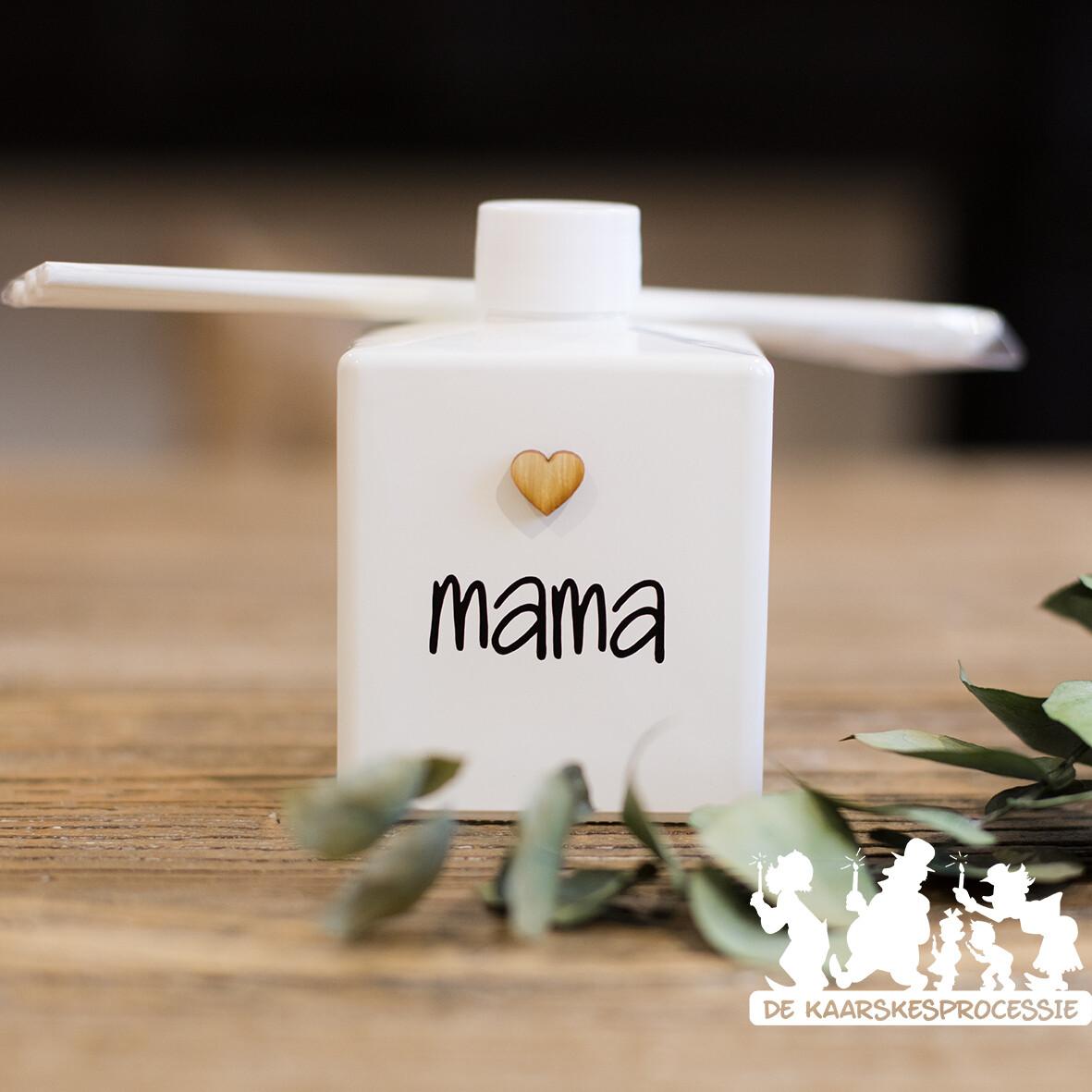 Huisparfum vierkant wit 10 cm Moederdag