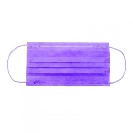 Маски медицинские 3-слойные с носовым фиксатором (фиолетовый)