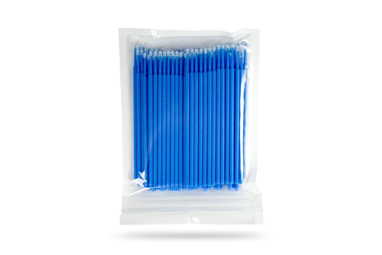 Микробраши синие в пакете (100шт)
