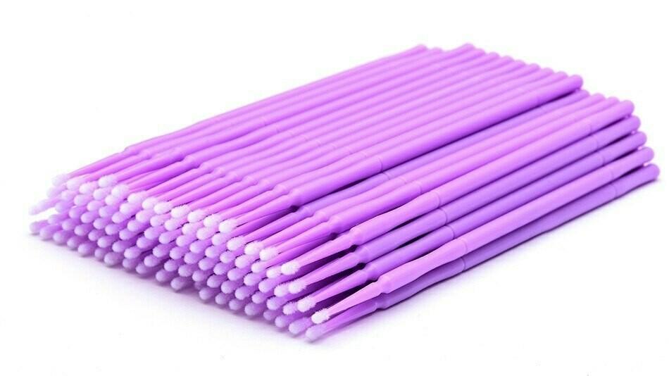 Микробраши фиолетовые в пакете (100шт)
