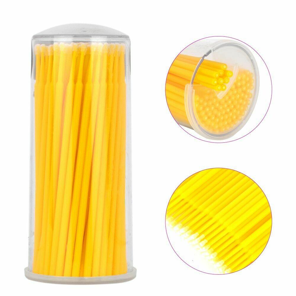 Микробраши желтые в тубе (100шт)