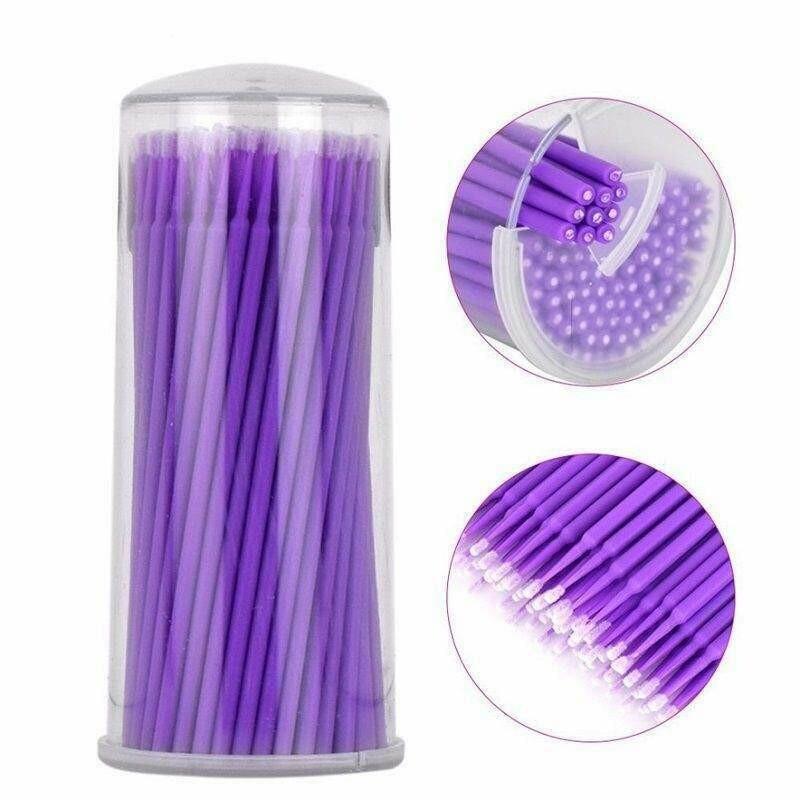 Микробраши фиолетовые в тубе (100шт)