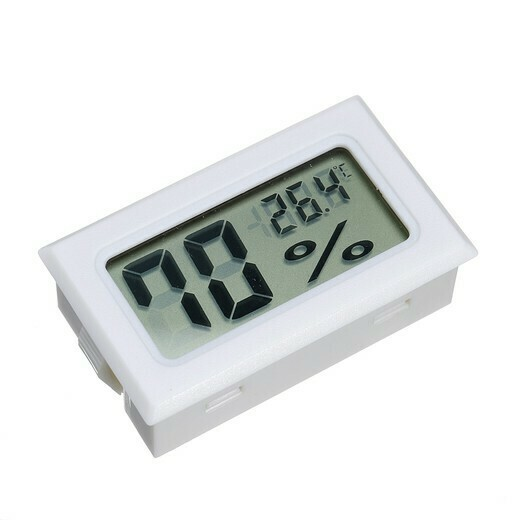 Термо-гигрометр мини (белый)