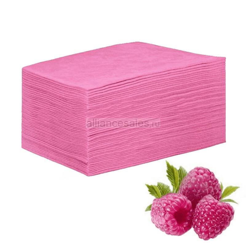 Простыни в сложении, 50шт(розовые)