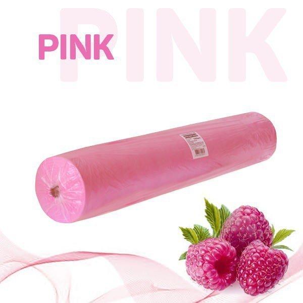 Простыни 70*200 одноразовые в рулоне (розовый)