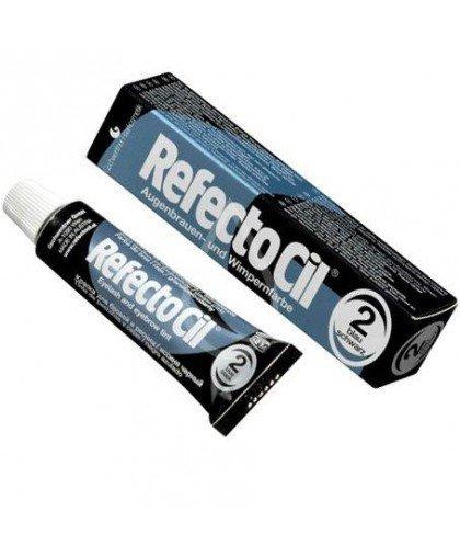Краска для бровей и ресниц RefectoCil №2(иссиня-чёрная)