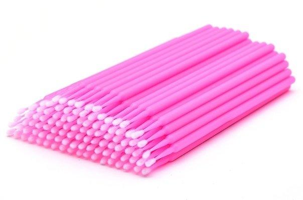 Микробраши розовые в пакете (100шт)