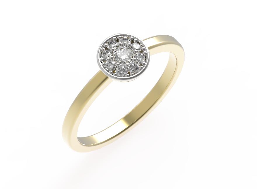 Bezel Pavé Engagement Ring