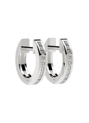 Platinum Huggie earrings