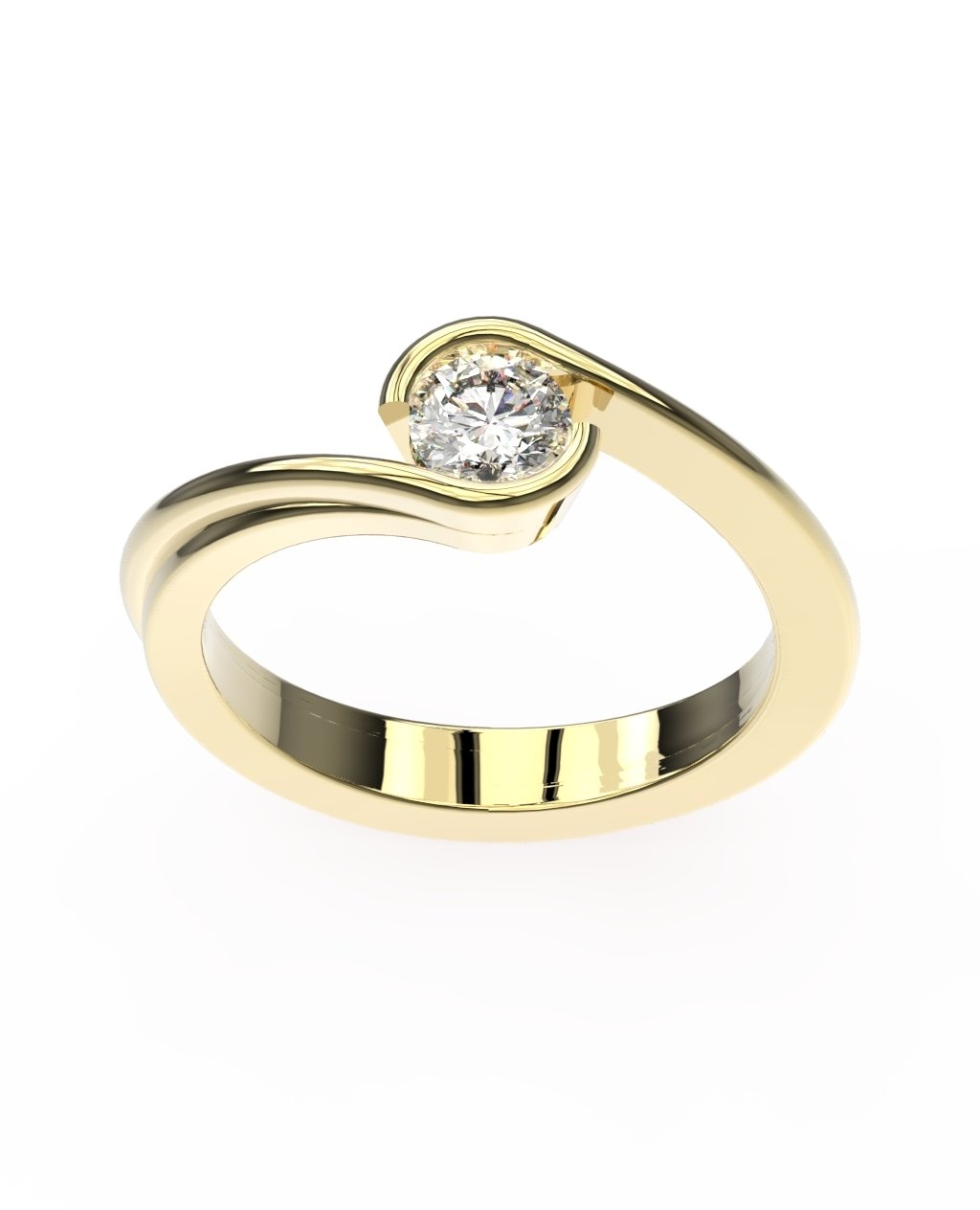 18ct Yelow Gold Tension Ring