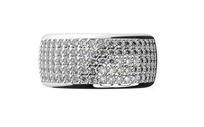 Platinum Pavé Diamond Ring
