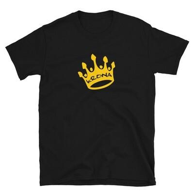 Krona Crown Logo T-Shirt (Black, White)