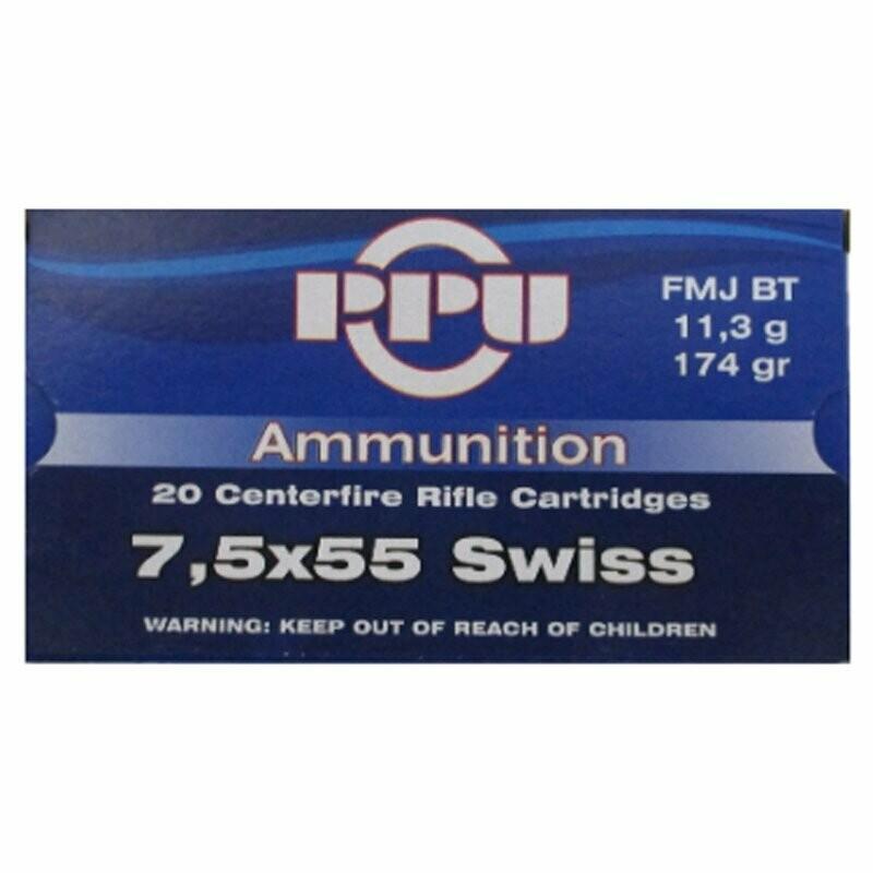 Ppu 7 5x55 Swiss 174gr Fmj Bt