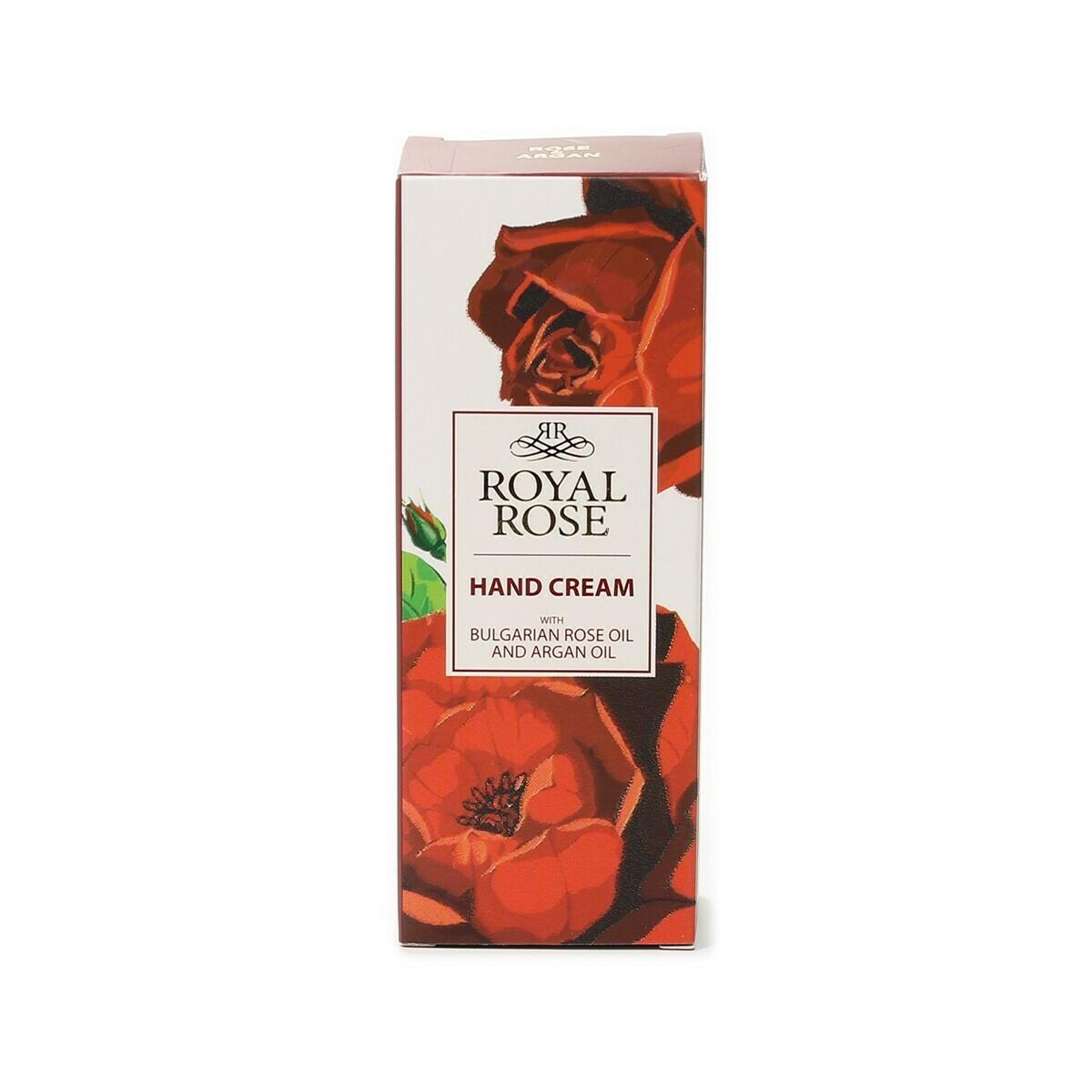"""Kremas rankoms su rožių ir argano aliejais """"Royal Rose""""- 50 ml"""