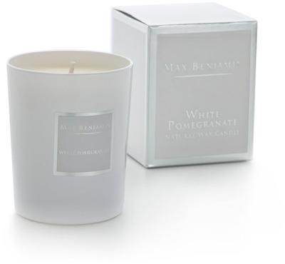 Rankų darbo žvakė WHITE POMEGRANATE