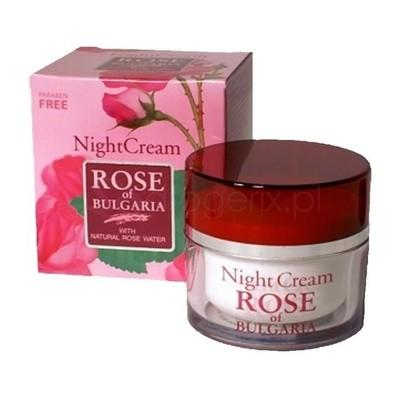 """Naktinis  kremas su rožių vandeniu """"Rose of Bulgaria"""" 50 ml"""
