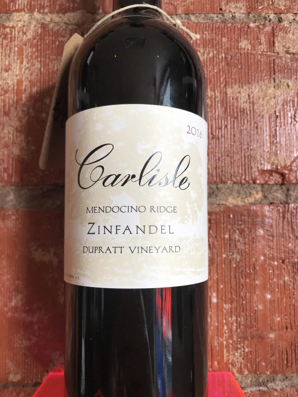 Carlisle DuPratt Vineyard Zinfandel 2016
