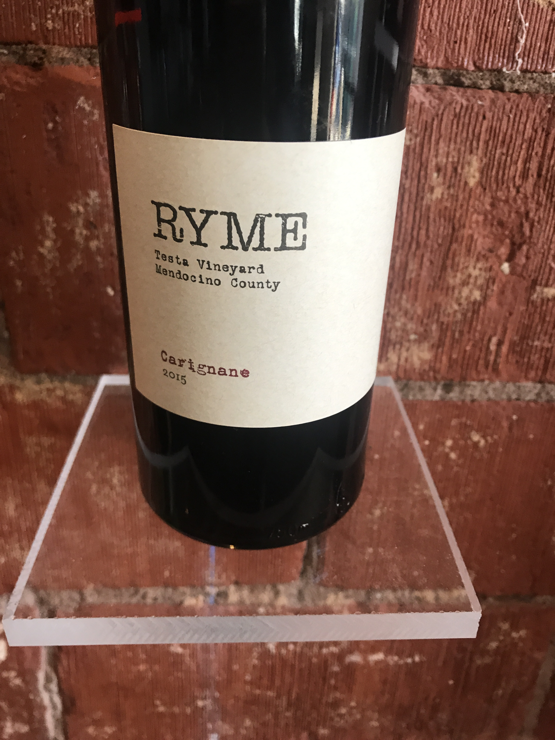 Ryme Cellars Testa Vineyard Carignan 2015