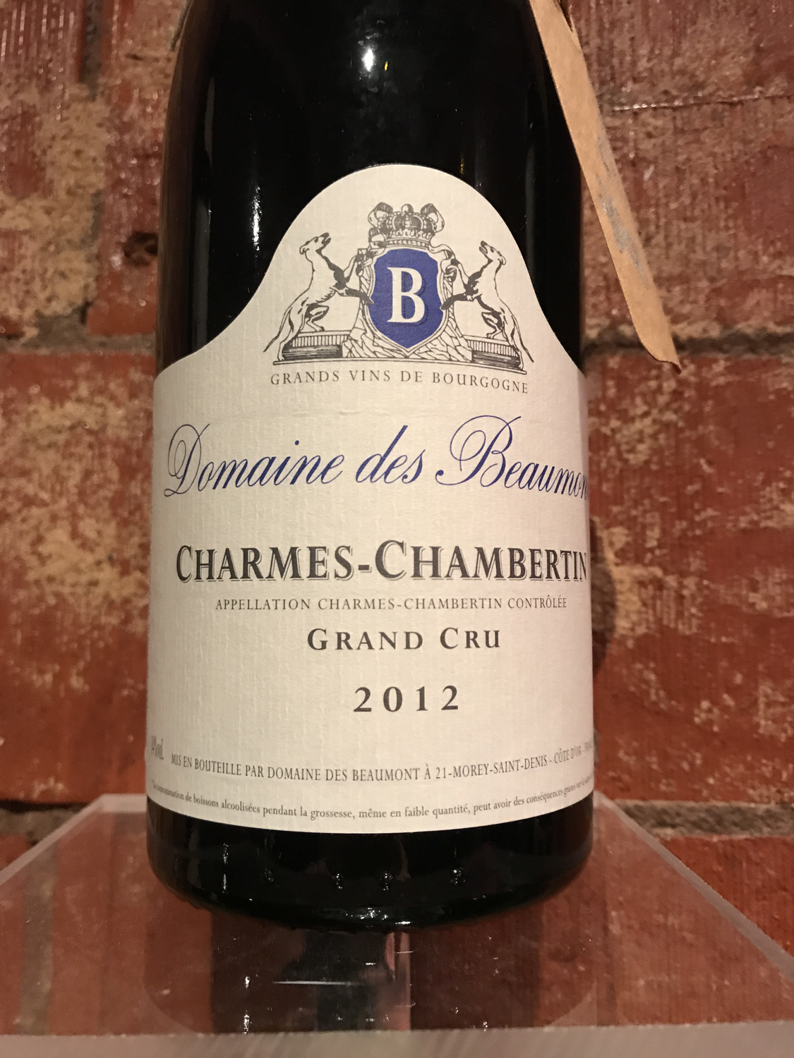 Dom des Beaumonts Chermes Chambertin Grand Cru 2012