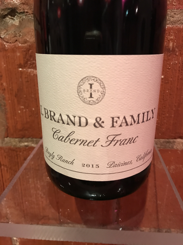 I. Brand and Family Paicines Cabernet Franc