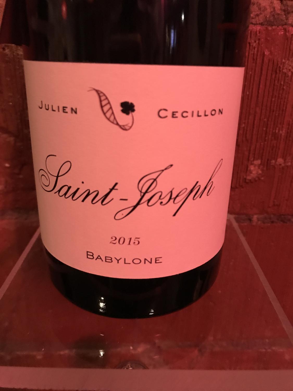 Julien Cecillon Saint-Joseph Rouge 2015