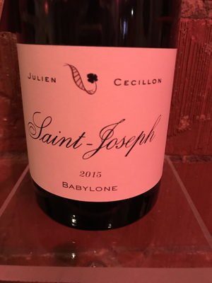 Julien Cecillon Saint-Joseph Rouge 2015