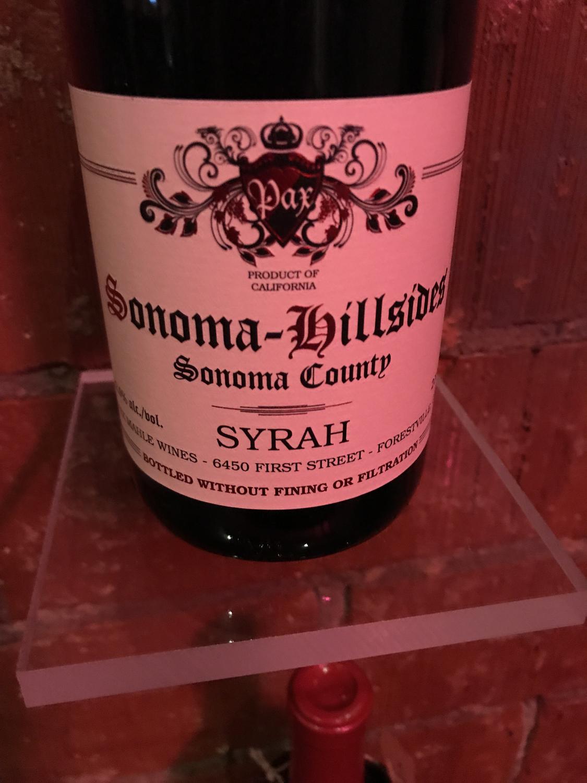 Pax Wines Sonoma Hillside Syrah 2017