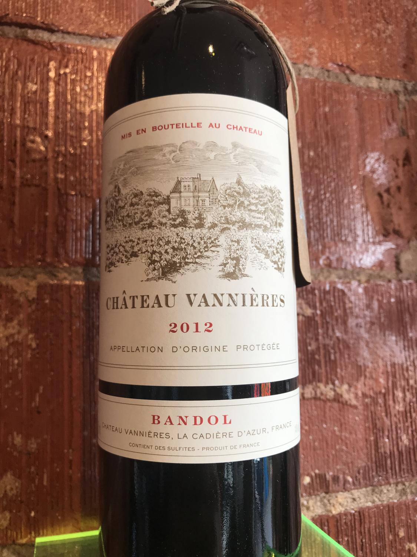Chat Vannieres Bandol Red 2012